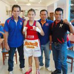 Successful young professional boxer